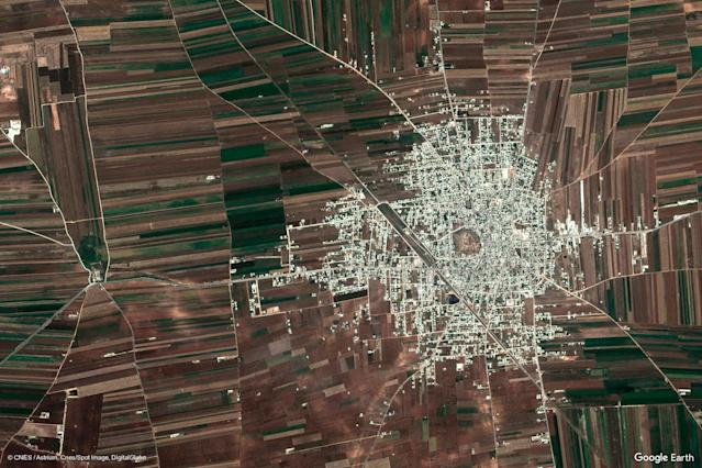 A Google Earth View of Tall Rifat, Syria. (Google Earth View)