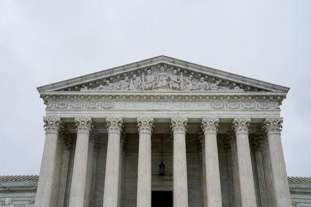 FILE PHOTO: The U.S. Supreme Court is seen as the court nears the end of its term in Washington