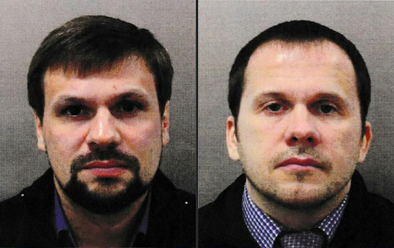 Bellingcat has published what it says are the real identities of both suspects in the poisoning of Russian spy Sergei Skripal, naming them as military intelligence officers Alexander Mishkin and Anatoly Chepiga (AFP Photo/HO)