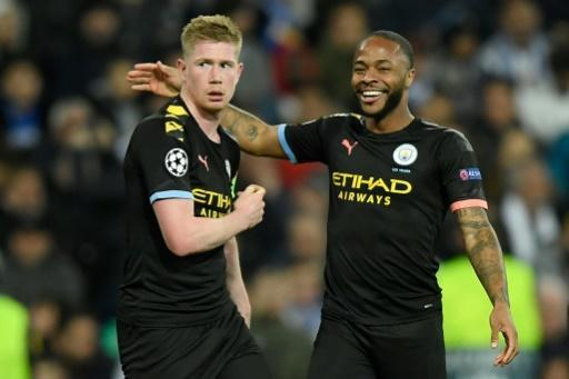Manchester City's Kevin De Bruyne (left) and Raheem Sterling (right) were unlikely to want to miss two years of Champions League football during the peak of their careers