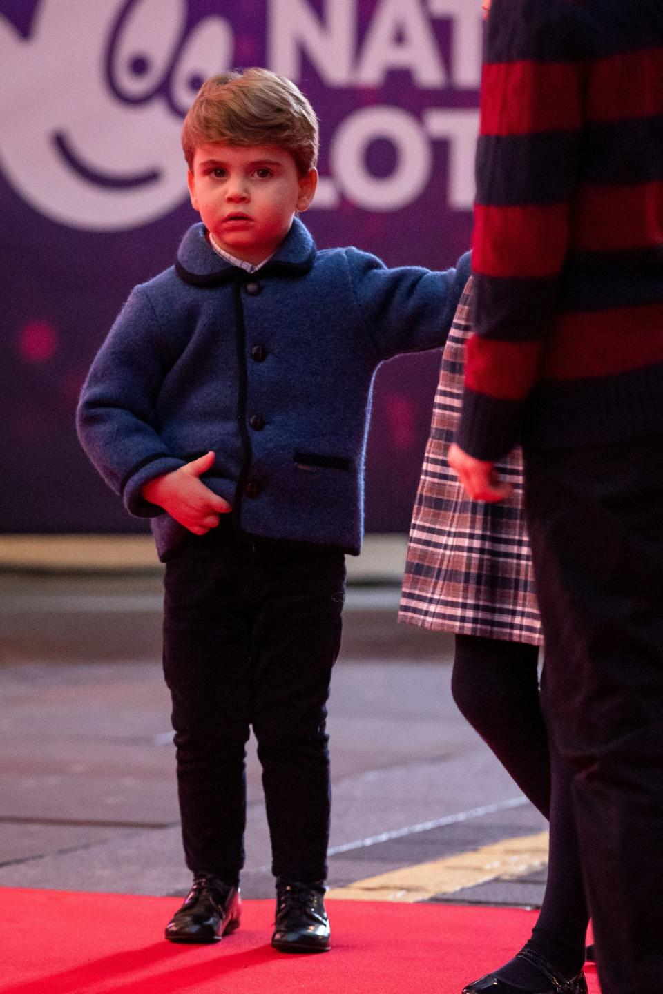 Prince Louis attends a special pantomime performance hosted by The National Lottery