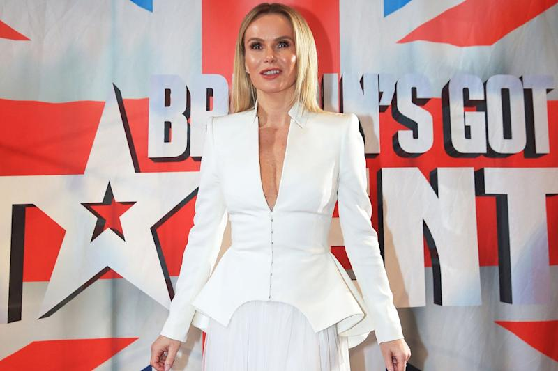 Brushing off: BGT judge Amanda Holden: Peter Byrne/PA