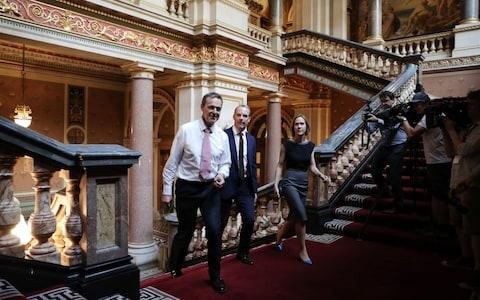 Dominic Raab (centre) at the Foreign Office - Credit: Dan Kitwood/PA Wire/Dan Kitwood/PA Wire
