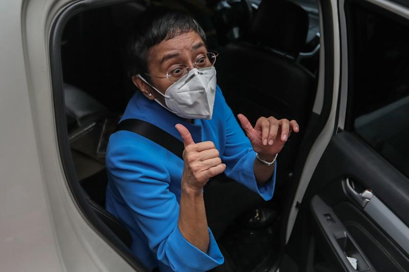 Philippine journalist Maria Ressa pleaded not guilty on July 22 to tax evasion, as President Rodrigo Duterte's government faced growing calls to drop all charges against the veteran reporter. (Photo by Maria TAN / AFP) (Photo by MARIA TAN/AFP via Getty Images)