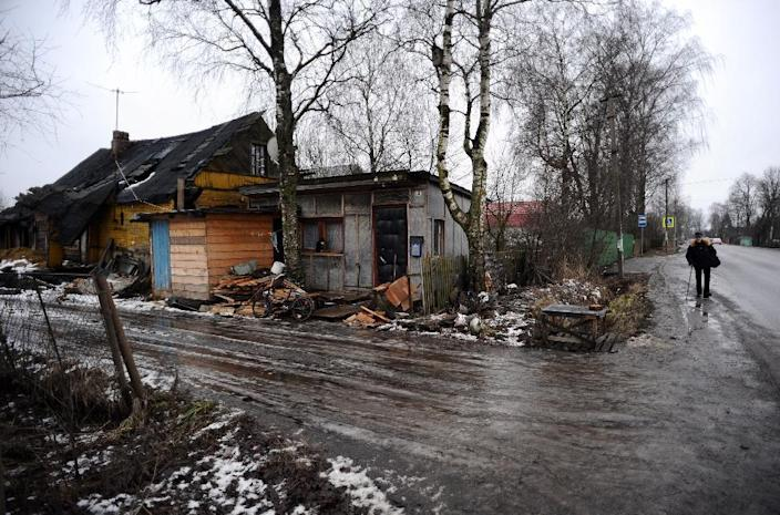 In a myriad of Russian villages like Voskresenskoye, pictured, the monetary turmoil roiling the nation's large cities still seems a largely distant threat (AFP Photo/Olga Maltseva)