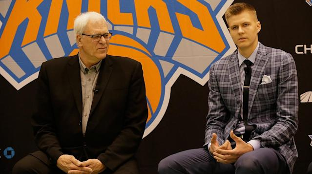 <p>Phil Jackson is currently Public Enemy No. 1 in New York when it comes to sports.</p><p>Reports on Tuesday say the Knicks President of Basketball Operations is listening to trade offers for Kristaps Porzingis.</p><p>The 7-foot-3 Latvian was drafted fourth overall by Jackson in the 2015 Draft. He quickly became a fan favorite and at just 21 years old, was thought to be the face of the franchise for the next several years.</p><p>Now Jackson, who's entire Knicks tenure has been a complete and utter disaster, may ship Porzingis out of the Big Apple. As you can imagine, Knicks fans are NOT happy.</p>