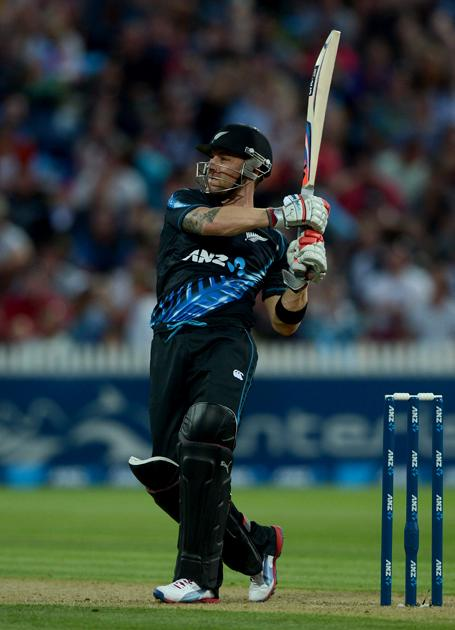 HAMILTON, NEW ZEALAND - FEBRUARY 12:  Brendon McCullum of New Zealand bats during the international Twenty20 match between New Zealand and England at Seddon Park on February 12, 2013 in Hamilton, New Zealand.  (Photo by Gareth Copley/Getty Images)