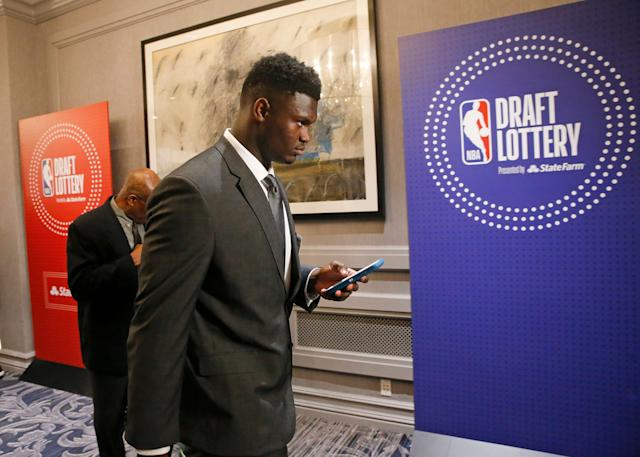 One Knicks fans is likely more disappointed than most over missing out on Zion Williamson. (AP)