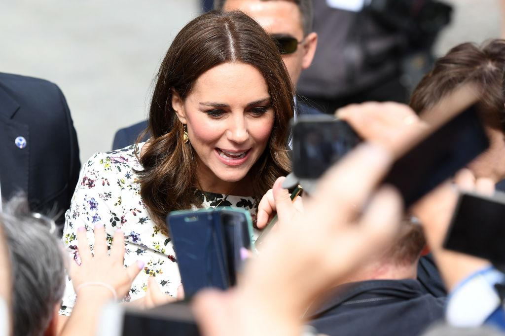 <p>If you're lucky, Kate Middleton might bestow a royal wave, hug, or a high-five upon you — but according to the <em>Express</em>, the Duchess of Cambridge has been banned from signing autographs due to the risk of signature forgery. The rule also applies to almost every senior member of the British royal family, including Queen Elizabeth II, Prince Charles, Prince William, and Prince Harry. (Photos: Getty Images) </p>