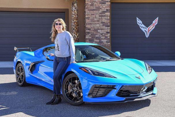 PHOTO: The 2020 Corvette Stingray can now be ordered in 12 new exterior colors like 'Rapid Blue.' (Morgan Korn/ABC News)