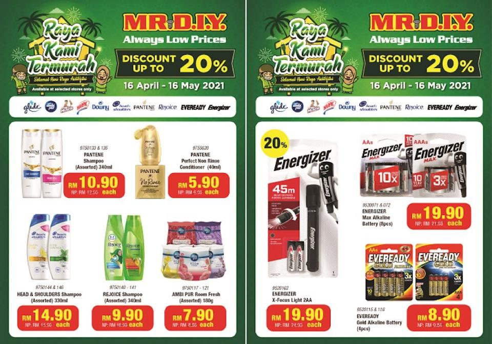 Enjoy up to 20 per cent discount for a variety of home and car care products at MR.DIY stores. ― Picture courtesy of MR.DIY