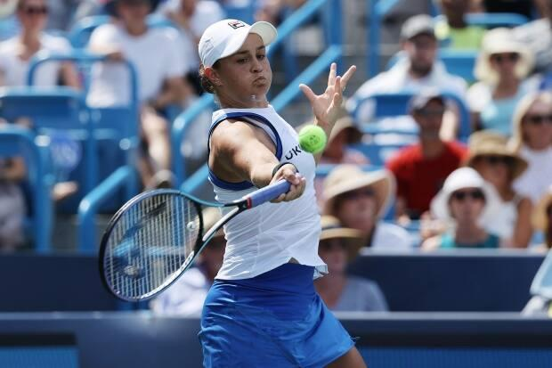 Ashleigh Barty, the No. 1 ranked player in the WTP, edged No. 75 Teichmann 6-3 and 6-1 to collect her first Western & Southern Open trophy in her first finals appearance. (Dylan Buell/Getty Images - image credit)
