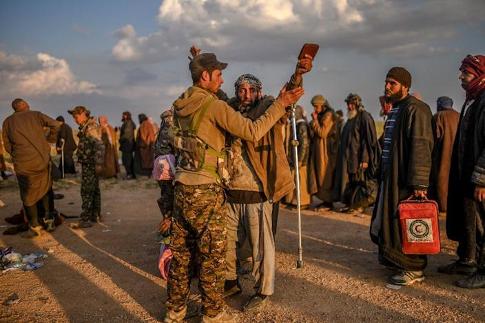Suspected jihadists are sent to prisons controlled by the US-backed Syrian Democratic Forces (AFP Photo/Bulent KILIC)