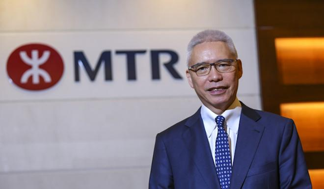 """Rex Auyeung, the MTR Corp chairman, on Thursday in Central. He described the rail operator's recent troubles as like """"going through turbulence"""". Photo: May Tse"""