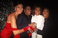 <p>The 1995 premiere of <em>Waiting to Exhale</em>, directed by Forest Whitaker and starring Lela Rochon, Loretta Devine, Whitney Houston and Angela Bassett as four best friends searching for Mr. Right in all the wrong places, was a star-studded affair. The red carpet was a mere runway for this iconic group of women; the energy being channeled into this group handshake alone would be enough to save 2020. Join us for a walk down memory lane, back to the film's festive, glamorous, and physically proximate premiere. </p>
