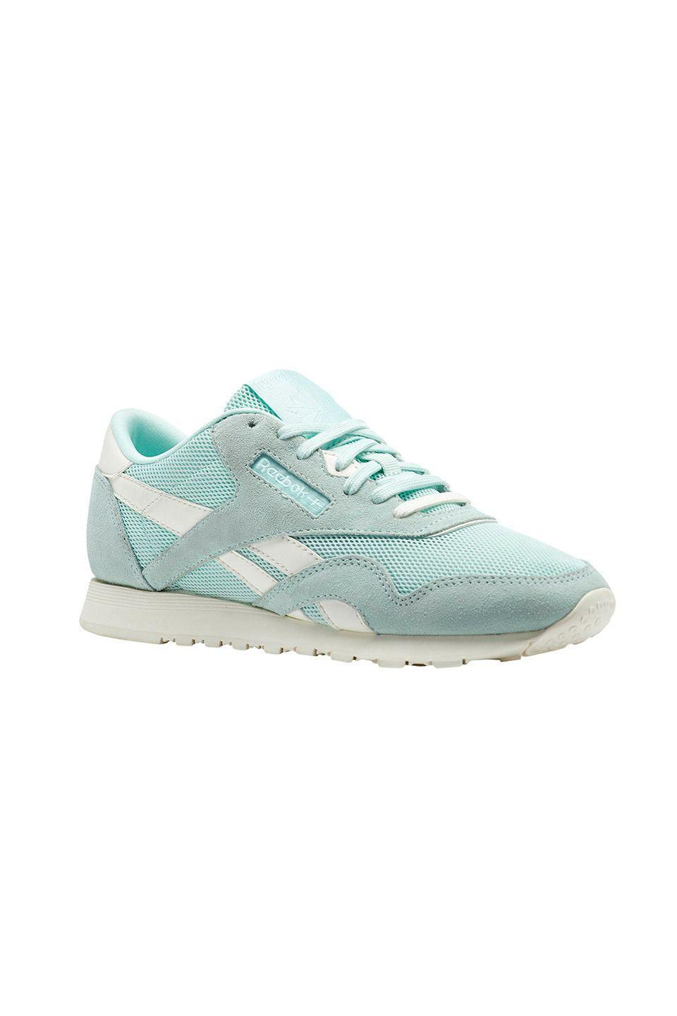 """<p>Comfy-cute and easily styled with any outfit. </p><p>Reebok sneakers, $65, <a href=""""https://www.reebok.com/us/"""" rel=""""nofollow noopener"""" target=""""_blank"""" data-ylk=""""slk:reebok.com"""" class=""""link rapid-noclick-resp"""">reebok.com</a></p>"""