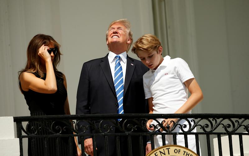 Of Course Donald Trump Looked at the Eclipse Without Glasses