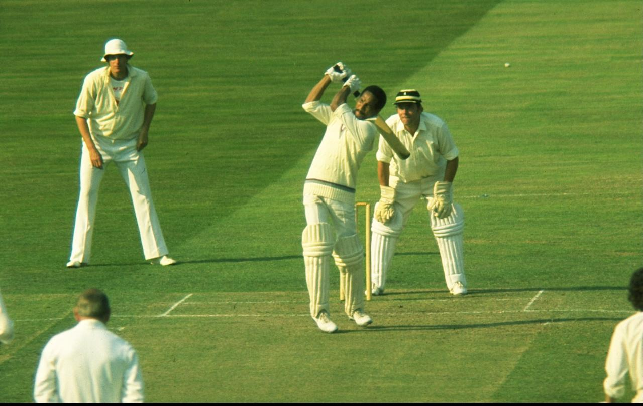 1972:  Sir Garfield Sobers of the West Indies in action during a match at Lord's in London. \ Mandatory Credit: Allsport UK /Allsport