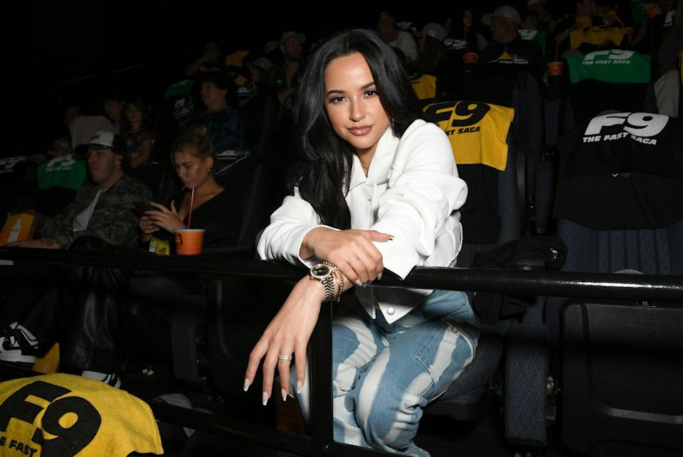 <p>Becky G attends <em>Fast & Furious 9</em> at Regal L.A. LIVE: A Barco Innovation Center on June 21 in L.A.</p>