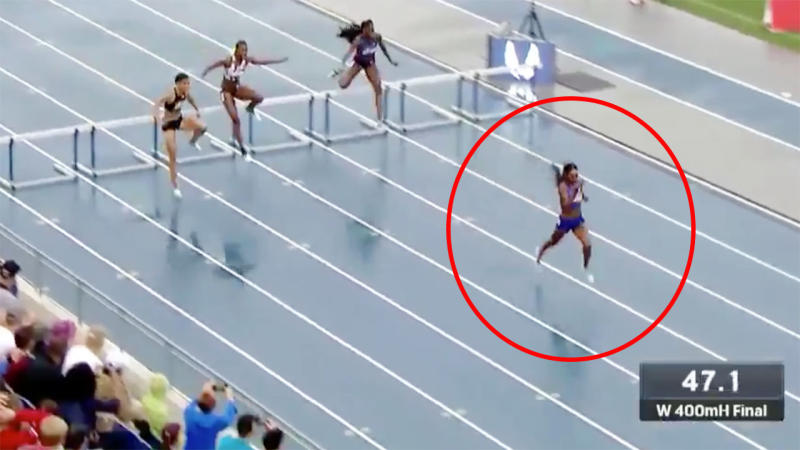 amazon work from home utah dalilah muhammad breaks 16 year world record in 400m hurdles 3041
