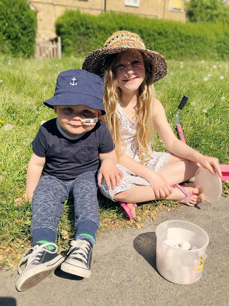 Jackson and his sister Ava Hall (Picture: SWNS)