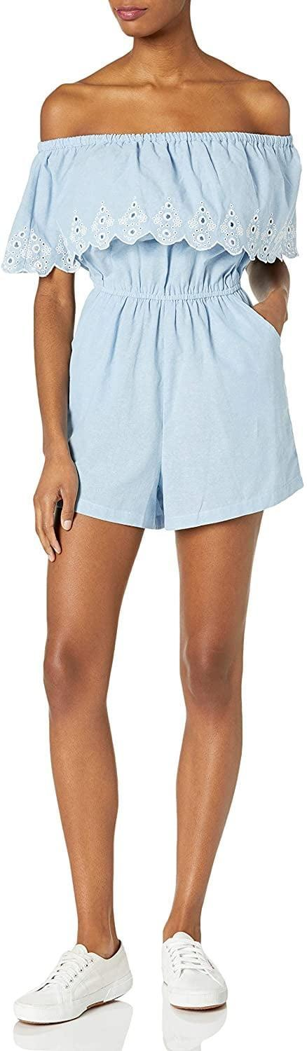 <p>This <span>Mud Pie Classic Romper</span> ($24 - $35) will pair nicely with sneakers or slide sandals.</p>