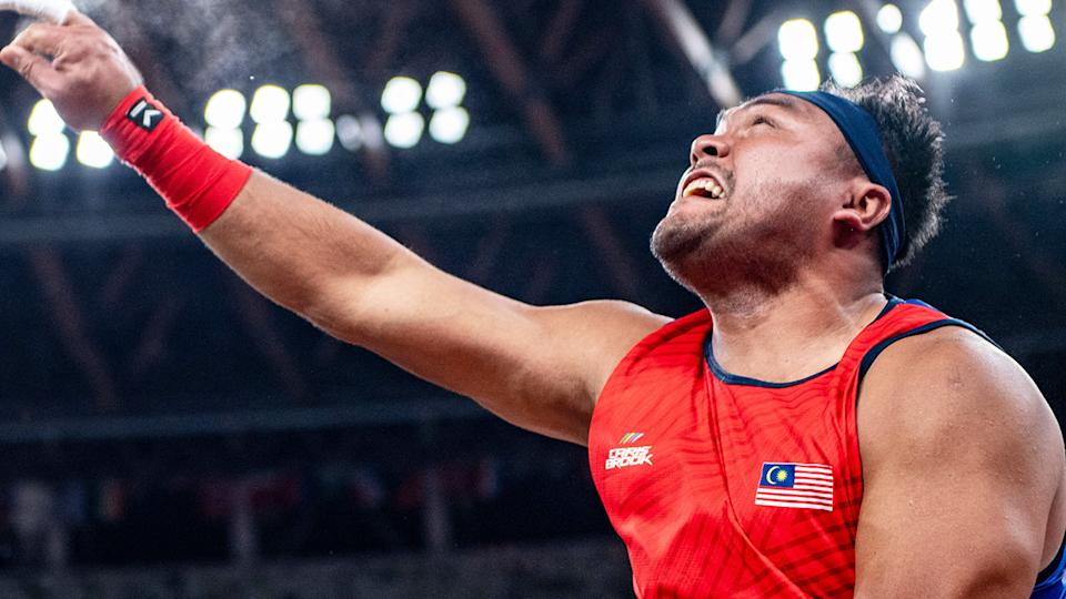 Muhammad Ziyad Zolkefli, pictured here in the shot put - F20 category at the Paralympic Games.