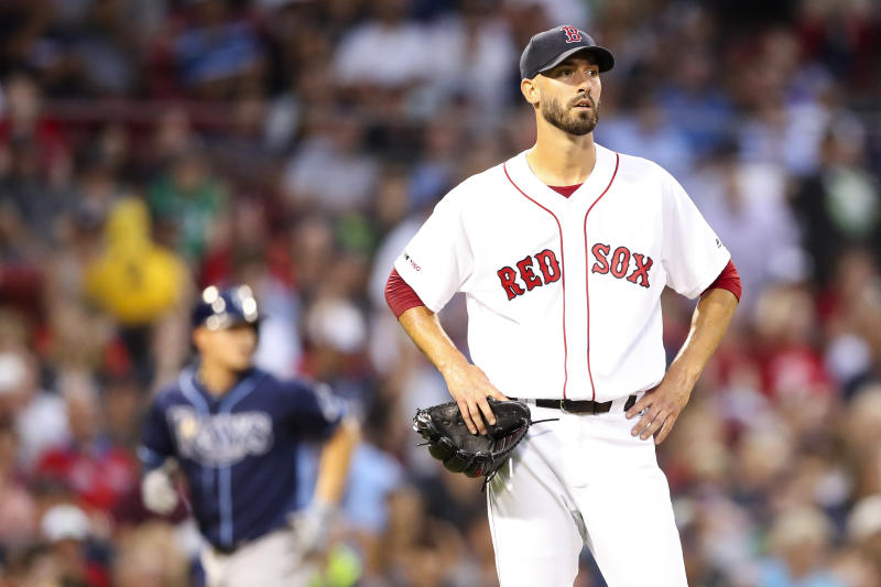 A pair of TVs bore the brunt of Rick Porcello's frustrating season on Wednesday. (Getty)