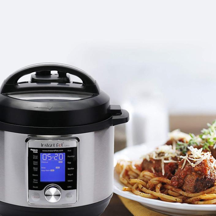This cutie cooks yogurt, cake, rice, meat and more with the push of a button. (Photo: Amazon)