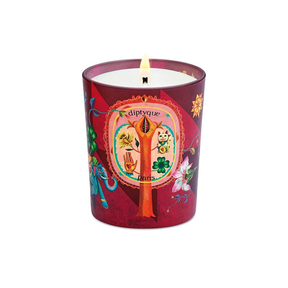 """For the host or hostess who <em>really, really</em> loves <a href=""""https://www.glamour.com/gallery/affordable-scented-candles?mbid=synd_yahoo_rss"""">candles</a>, why not get them a limited-edition version of their favorite scent? This one from Diptyque is especially lovely since it's supposed to bring good luck. $72, Nordstrom. <a href=""""https://shop.nordstrom.com/s/diptyque-flora-fortune-candle-limited-edition/5412863?"""">Get it now!</a>"""