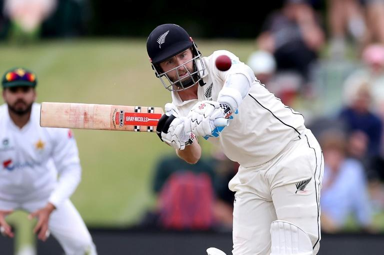 New Zealand's captain Kane Williamson plays a shot on his way to a dominant 238 against Pakistan