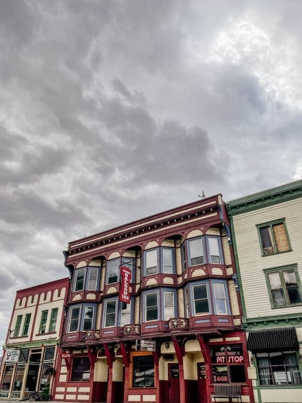 The Windsor Hotel, built in 1896 in Greenwood, B.C., was acquired by Metro Vancouver farmer Kendall Ballantine last week.  (Submitted by Kendall Ballantine - image credit)