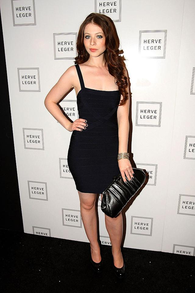 "Michelle Trachtenberg showed off her curves on the Herve Leger red carpet in dress by the designer. Theo Wargo/<a href=""http://www.wireimage.com"" target=""new"">WireImage.com</a> - September 7, 2008"