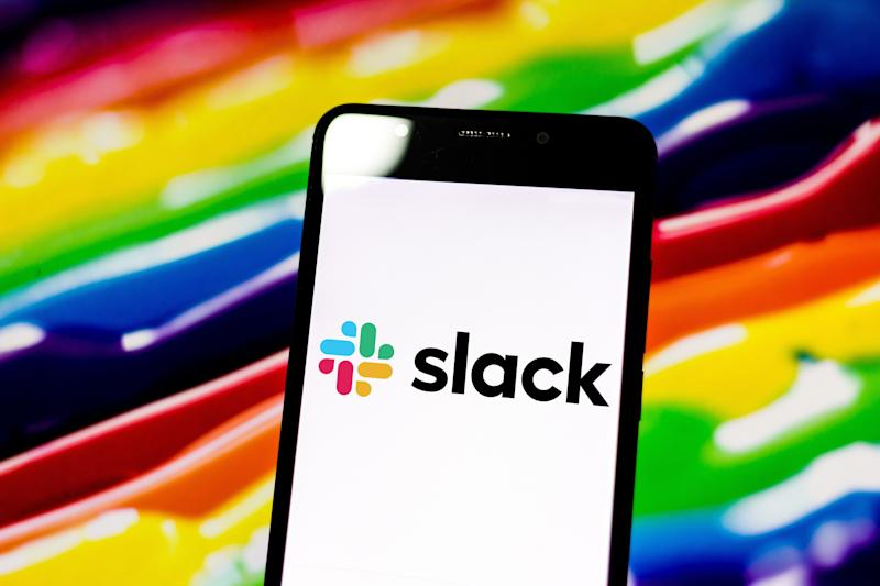 Workplace messaging company Slack's stock surges 60% after public debut