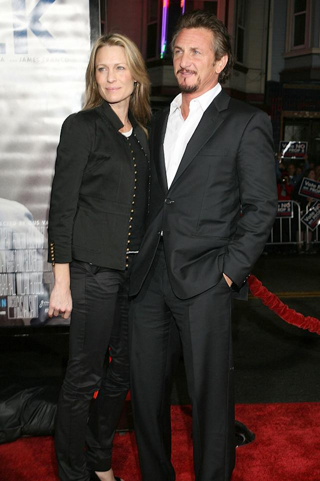 "<a href=""http://movies.yahoo.com/movie/contributor/1800019047"">Robin Wright Penn</a> and <a href=""http://movies.yahoo.com/movie/contributor/1800019044"">Sean Penn</a> at the San Francisco premiere of <a href=""http://movies.yahoo.com/movie/1810041985/info"">Milk</a> - 10/28/2008"