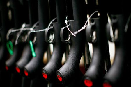 FILE PHOTO:    Rifles are seen at the Sturm, Ruger & Co., Inc. gun factory in Newport, New Hampshire January 6, 2012.  REUTERS/Eric Thayer/File Photo