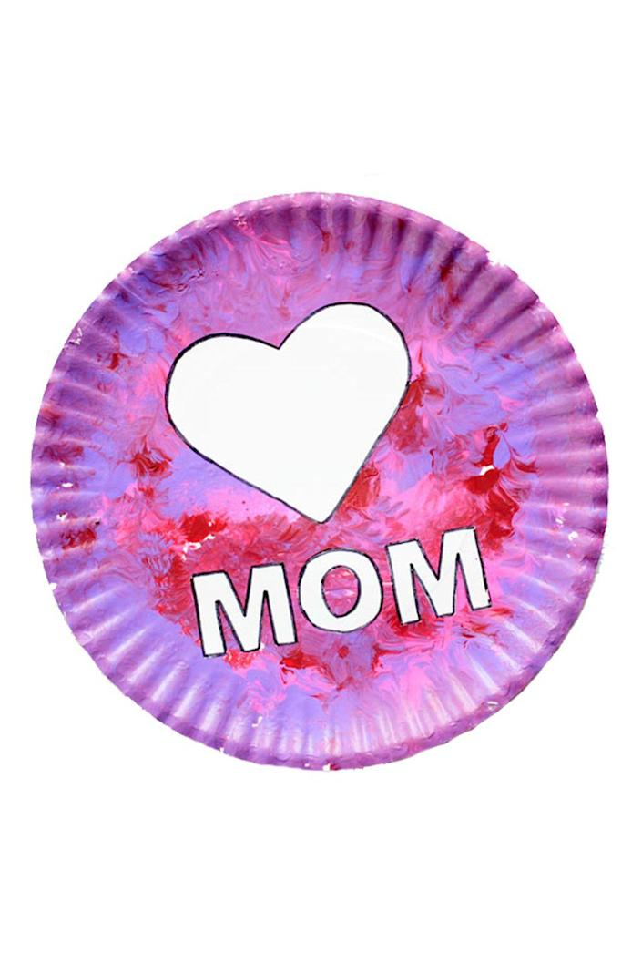 """<p>This easy Mother's Day craft is perfect for toddlers. All you need is a paper plate, <a href=""""https://www.amazon.com/Crayola-First-Fingerpaint-Washable-Paint/dp/B0197UC222/?tag=syn-yahoo-20&ascsubtag=%5Bartid%7C10050.g.19618668%5Bsrc%7Cyahoo-us"""" rel=""""nofollow noopener"""" target=""""_blank"""" data-ylk=""""slk:finger paint"""" class=""""link rapid-noclick-resp"""">finger paint</a>, and craft paper—an adult will have to help make the heart and letters. </p><p><strong>Get the tutorial at <a href=""""https://nontoygifts.com/paper-plate-mothers-day-craft-kids/"""" rel=""""nofollow noopener"""" target=""""_blank"""" data-ylk=""""slk:Non-Toy Gifts"""" class=""""link rapid-noclick-resp"""">Non-Toy Gifts</a>. </strong></p><p><a class=""""link rapid-noclick-resp"""" href=""""https://go.redirectingat.com?id=74968X1596630&url=https%3A%2F%2Fwww.michaels.com%2Fcreatology-finger-paint-set%2F10156699.html%23q%3Dfinger%2Bpaint%26start%3D1&sref=https%3A%2F%2Fwww.countryliving.com%2Fshopping%2Fgifts%2Fg19618668%2Fmothers-day-gifts-from-toddler%2F"""" rel=""""nofollow noopener"""" target=""""_blank"""" data-ylk=""""slk:SHOP FINGER PAINT"""">SHOP FINGER PAINT </a></p>"""