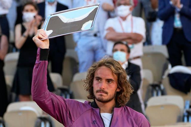 Stefanos Tsitsipas can be holding the winner's trophy very soon