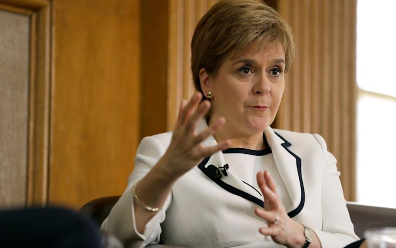 Nicola Sturgeon speaking at Stanford University - AP