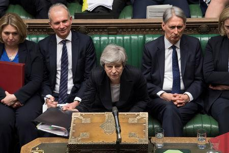 Britain's Prime Minister Theresa May speaks at the House of Commons in London, Britain May 22, 2019. ©UK Parliament/Mark Duffy/Handout via REUTERS