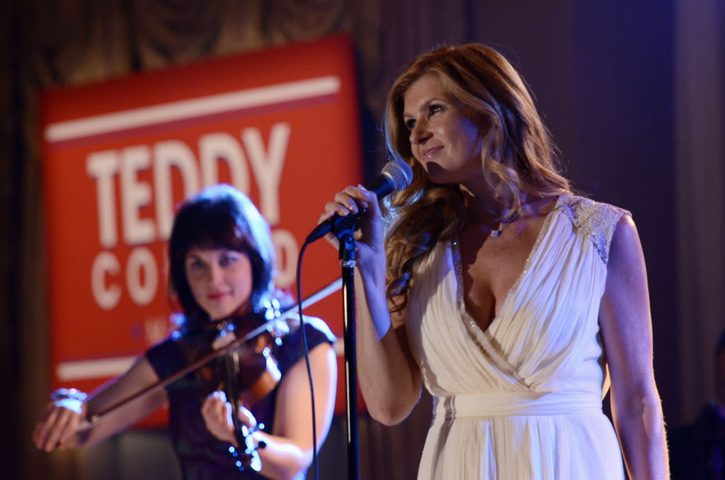 "Connie Britton in the ""Nashville"" episode, ""We Live in Two Different Worlds."""