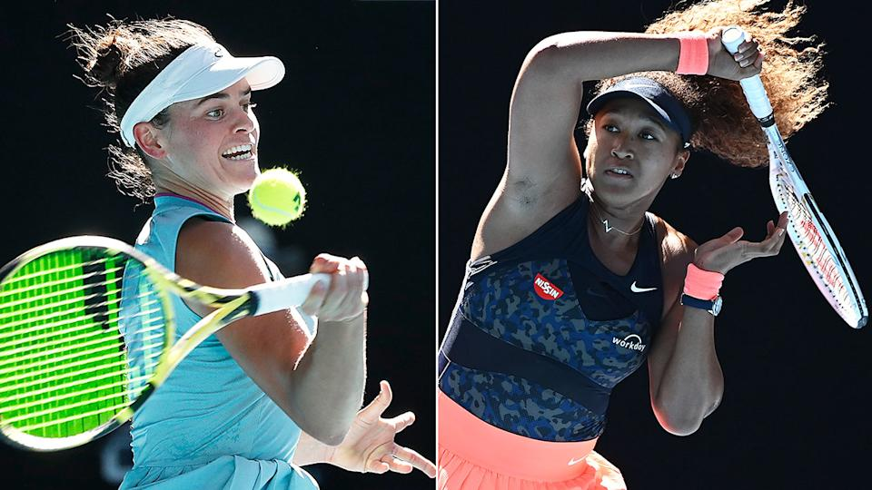 Pictured here, Jennifer Brady and Naomi Osaka in action at the Australian Open.