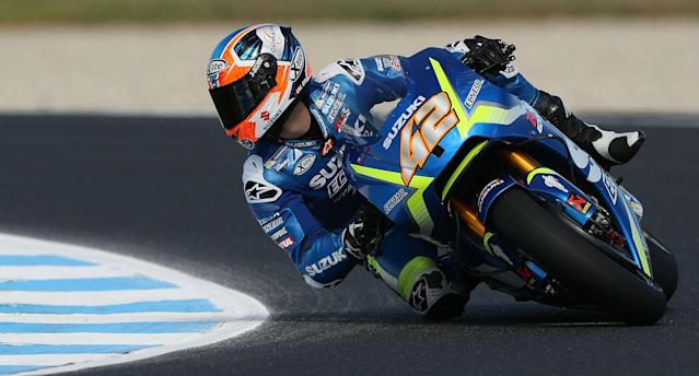 Alex Rins will be assessed on Monday to see if he will be fit enough to race in the second round of the MotoGP season.