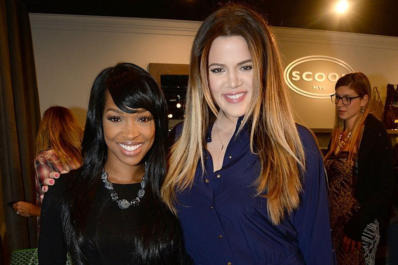 Best friends: Malika Haqq and Khloe Kardashian: Chris Weeks/Getty