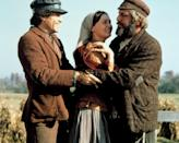 "<p>Following the plot of the Broadway musical, <strong>Fiddler on the Roof</strong> is about a Jewish peasant who consults a matchmaker to find good husbands for his daughters. </p> <p> <a href=""http://www.netflix.com/title/499456"" class=""link rapid-noclick-resp"" rel=""nofollow noopener"" target=""_blank"" data-ylk=""slk:Watch Fiddler on the Roof on Netflix now."">Watch <strong>Fiddler on the Roof</strong> on Netflix now.</a> </p>"