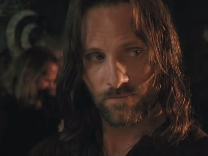 aragon lord of  the rings