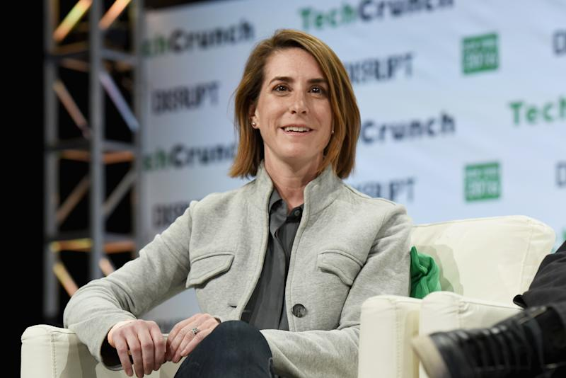 NEW YORK, NY - MAY 09: Co-founder and CEO at Modsy Shanna Tellerman speaks onstage during TechCrunch Disrupt NY 2016 at Brooklyn Cruise Terminal on May 9, 2016 in New York City. (Photo by Noam Galai/Getty Images for TechCrunch)