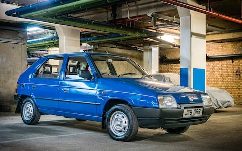 Skoda Favorit in a carpark - Credit: Andrew Crowley