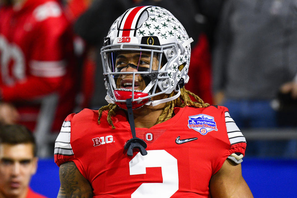Ohio State defensive end Chase Young will not participate in drills during this week's NFL combine. (Photo by Brian Rothmuller/Icon Sportswire via Getty Images)