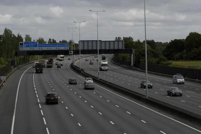 Londoners could be limited to travel within the M25 motorway, according to reports. (AP)